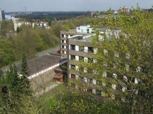 A-Haus und Eingangsbereich von oben